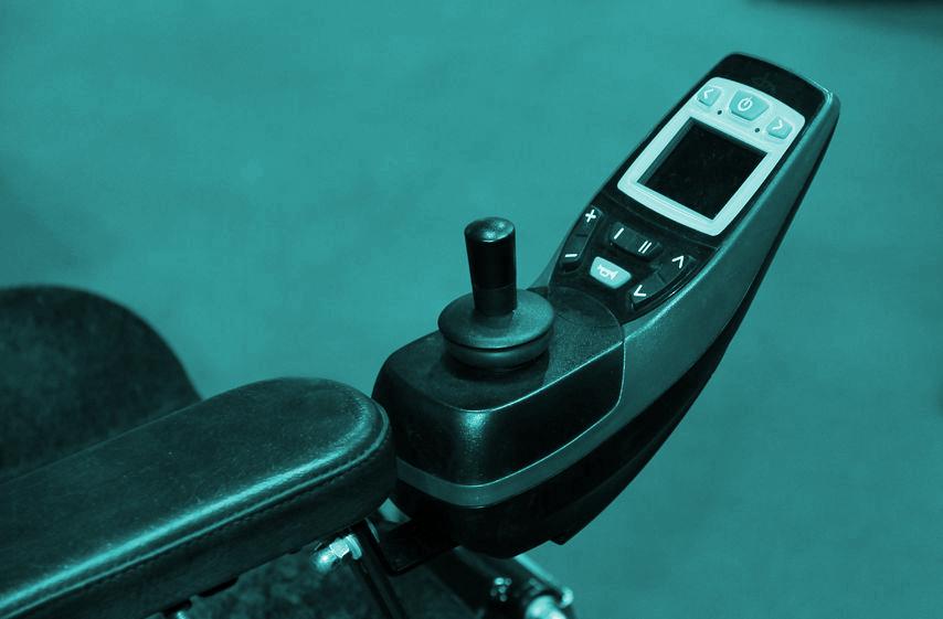 Fotoband, bedieningsstick voor elektrische rolstoel