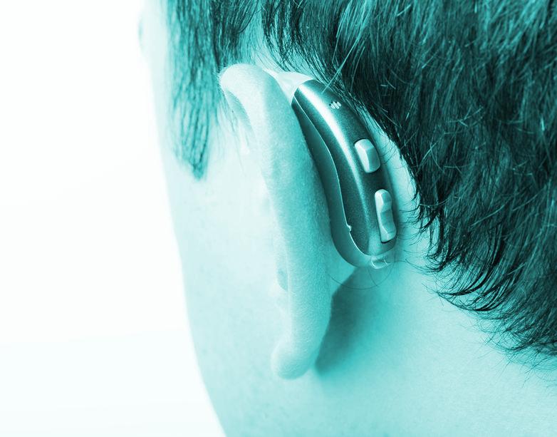 Fotoband, hoorapparaat voor auditieve versterking